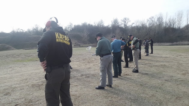 Practicing dry firing drills to relax nerves before shooting